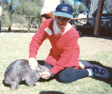 Shelly Plays with a Wombat in Australia !!